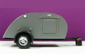 Art Deco Tear Drop Trailer Body, Frame, and Fenders (1/25)