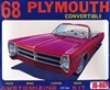 1968 Plymouth Convertible (4 'n 1) Stock, Drag, Custom, or Track (1/25) (fs) MINT
