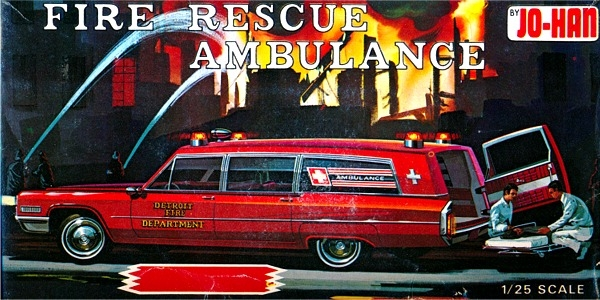 1966 Cadillac Fire Rescue Ambulance Gold Cup Series 1 25