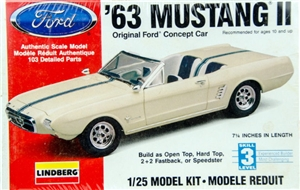 1963 Ford Mustang II Concept Car (1/25) (fs)