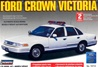 1996 Ford Crown Victoria Plain White Car with MX-7000 light bar (Add your own decals) (1/25) (fs)