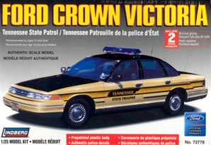 1996 Ford Crown Victoria Tennessee - pre-painted w/ MX-7000 light bar & authentic decals (1/25) (fs)