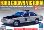 1996 Ford Crown Victoria Alabama State Police - pre-painted w/ MX-7000 light bar & authentic decals (1/25) (fs)