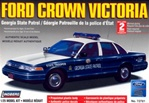 1996 Ford Crown Victoria Georgia State Patrol - pre-painted w/ MX-7000 light bar & authentic decals (1/25) (fs)
