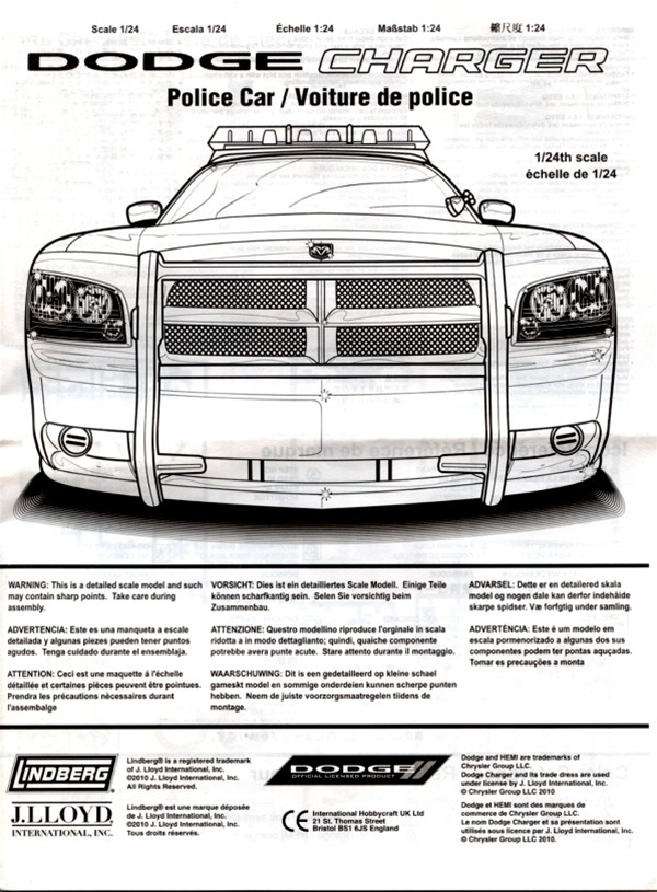 Dodge charger police car illinois state police unpainted w8 dodge charger police car illinois state police unpainted w8 light bars authentic decals 124 fs aloadofball Choice Image