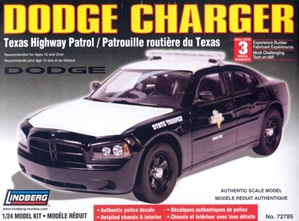 Dodge Charger Police Car - Texas Highway Patrol - Unpainted w/8 light bars & authentic decals (1/24) (fs)