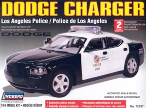 Dodge Charger Police Car - Los Angeles Police - Unpainted w/8 light bars & authentic decals (1/24) (fs)