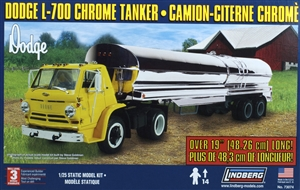 1965 Dodge L-700 Tilt Cab with Chrome Tanker Trailer  (1/25) (fs)
