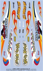 Model King Slot Car Decal Sheet (1/24 or 1/25)