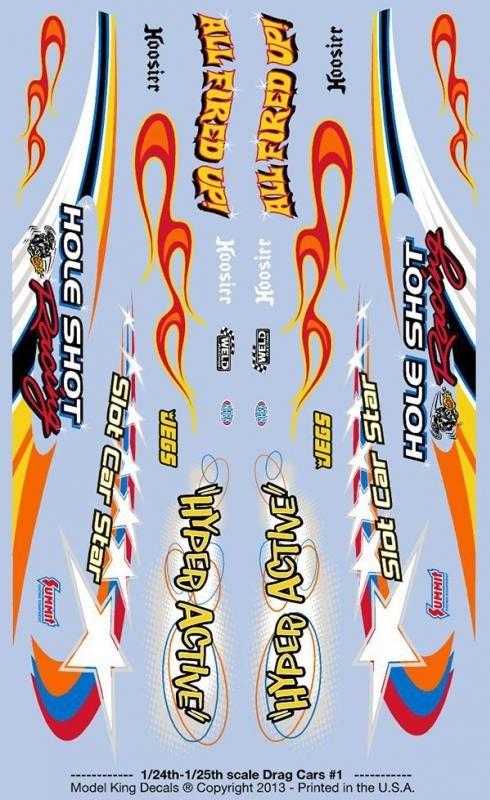 Model king slot car decal sheet 1 24 or 1 25