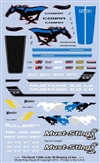 Model King 1990 Mustang Decal Sheet (1/24 or 1/25)