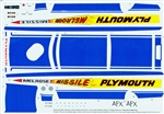 Plymouth Melrose Missile Decals (1/25)