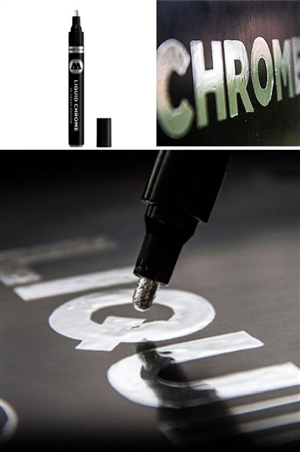 "2mm ""Medium"" Tip Liquid Chrome Mirror Effect Marker"