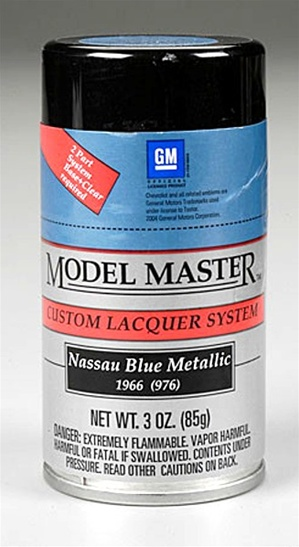 Spray Nassau Blue Metallic Lacquer 3 oz