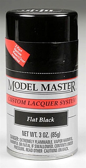 Spray Flat Black Lacquer 3 oz