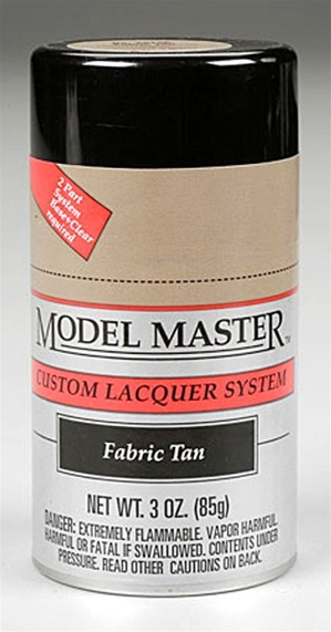 Spray Fabric Tan Lacquer 3 oz