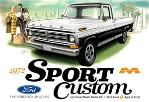 1972 Ford F-100 Sport Custom 2WD Shortbed Pickup (1/25) (fs)