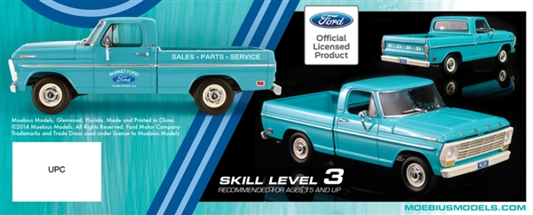 1969 Ford F 100 Custom Shortbed Pickup 1 25 Fs