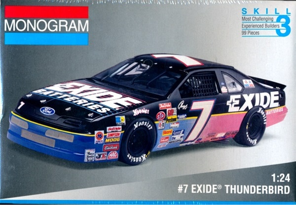 Mazda Miata Parts >> 1994 # 7 Geoff Bodine 'Exide Batteries' Thunderbird (1/24 ...