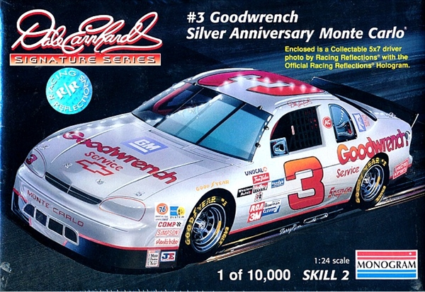 1995 Chevy Monte Carlo Silver Anniversary Dale Earnhardt 3 Goodwrench 124 Fs