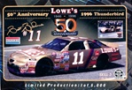 "1996 Brett Bodine ""Lowes"" # 11 Gold 50th Anniversary Ford Thunderbird (1/24) (fs)"