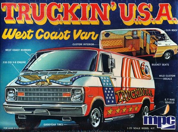 1975 Dodge Van Quot Truckin Usa Quot West Coast Van 1 25 Fs
