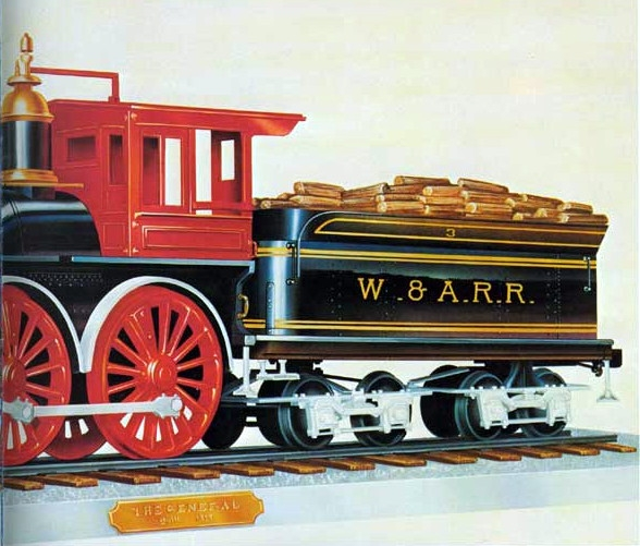 The General 4-4-0 American Standard Wood-Burning Steam