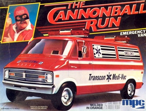 Muscle Car Decals >> 198X Cannonball Run Dodge Emergency Van (1/25) (fs)