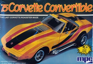1975 Chevy Corvette Sting Ray Convertible Roadster (2 'n 1) Stock or Custom (1/25) (fs)