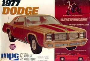 1977 Dodge Monaco 2-Door Sedan with Mini-Bike (3 'n 1) (1/25) (fs)