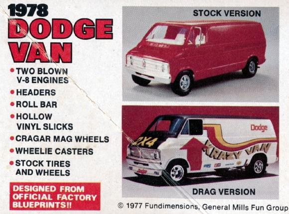 1978 Dodge Van (2'n1) Stock or Drag Version (1/25) (fs)