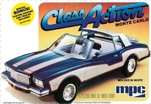 "1980 Chevy Monte Carlo ""Class Action"" with Chopper and Trailer (1/25) (fs)"