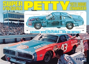 Richard Petty Dodge Charger Stock Car (Body Molded in Petty Blue)  (1/16) (fs)