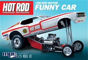1970's Hot Rod Magazine Long-Nose Mustang Funny Car (1/25) (fs)
