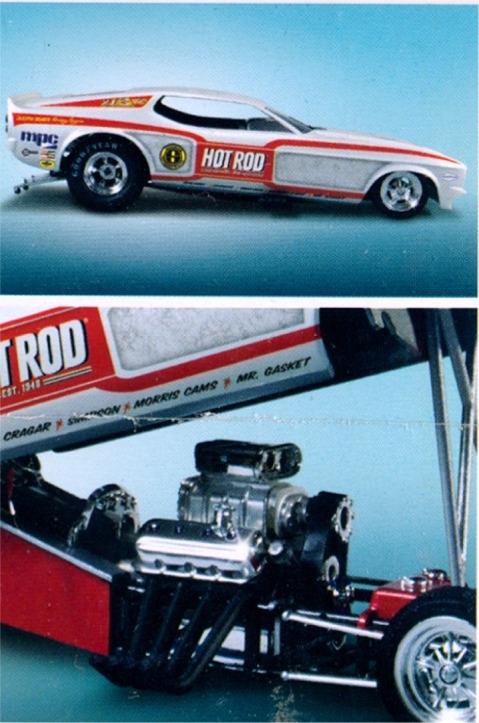 & 1970u0027s Hot Rod Magazine Long-Nose Mustang Funny Car (1/25) (fs) markmcfarlin.com