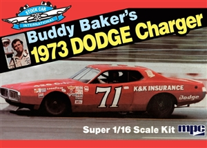 1973 Buddy Baker's Dodge Charger Stock Car (1/16) (fs)