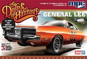 Dukes of Hazzard General Lee '69 Dodge Charger Snap Kit - New Tooling Molded in Color (1/25) (fs)