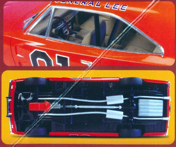 Dodge Charger Parts >> Dukes of Hazzard General Lee '69 Dodge Charger Snap Kit - New Tooling Molded in Color (1/25) (fs)