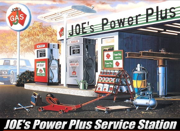 joes power plus service station garage 1 24 fs. Black Bedroom Furniture Sets. Home Design Ideas