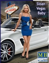 "Sloan ""Vegas Baby"" A Modern  Pin-Up Girl Wearing Mini-Dress Posing with Hand on Hip  (1/24)"