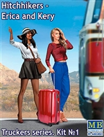 Erica & Kery Hitchiker Girls with Suitcase (1/24)