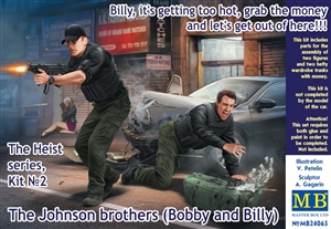 The Heist: The Johnson Brothers (Bobby and Billy) Figures with Money in Shootout (1/24)