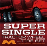 "Super Single Tractor Wheel & Tire Set (6) (1/25) (fs)  <br><span style=""color: rgb(255, 0, 0);"">Just Arrived</span>"
