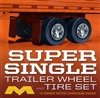 Super Single Trailer Wheel & Tire Set (4) (1/25) (fs)