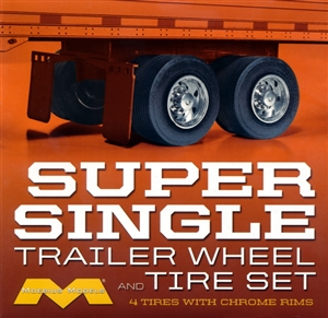 "Super Single Trailer Wheel & Tire Set (4) (1/25) (fs)  <br><span style=""color: rgb(255, 0, 0);"">Just Arrived</span>"