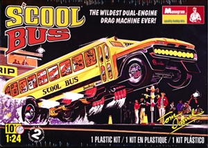 "Tom Daniel S'cool Bus ""Outa-Sight Dual Engine Drag Machine"" (with tinted window sheet) (1/24) (fs)"