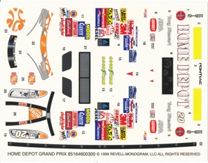 1999 Tony Stewart #20 'Home Depot' Grand Prix  (1/24)