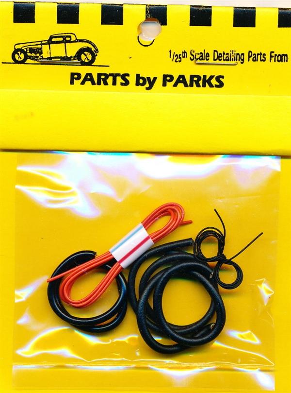 Detail Set # 2: Radiator Hose, Orange Heater Hose, Black Battery Cable  (1/24 or 1/25)