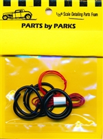 Detail Set # 3: Radiator Hose, Red Heater Hose, Red Battery Cable (1/24 or 1/25)
