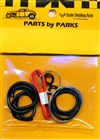 Detail Set # 5: Radiator Hose, Orange Heater Hose, Black Battery Cable, Brake Fuel Lines, Carburetor Linkage (1/24 or 1/25)